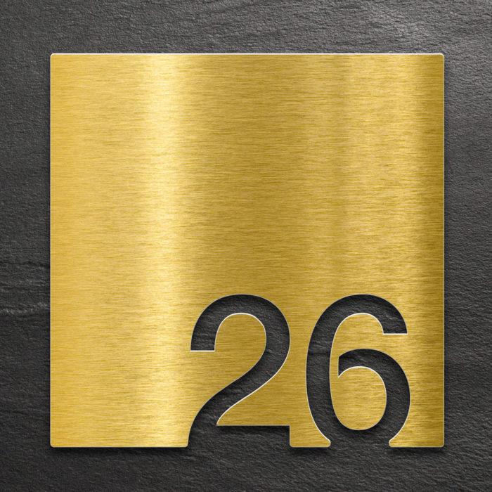 Messing Zimmernummer 26 / Z.03.026.M 1