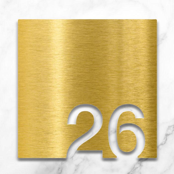 Messing Zimmernummer 26 / Z.03.026.M 2