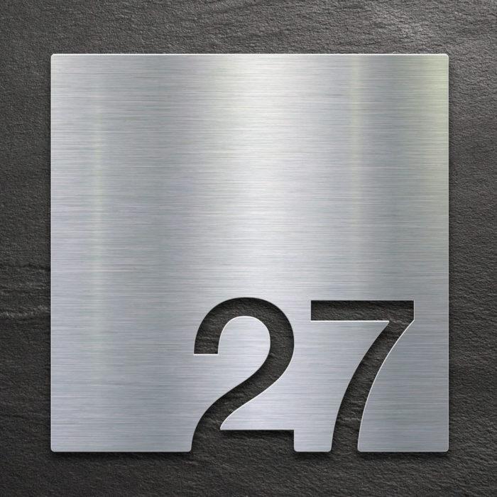 Edelstahl Zimmernummer 27 / Z.03.027.E 1