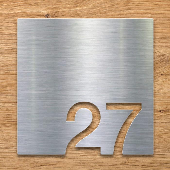 Edelstahl Zimmernummer 27 / Z.03.027.E 2