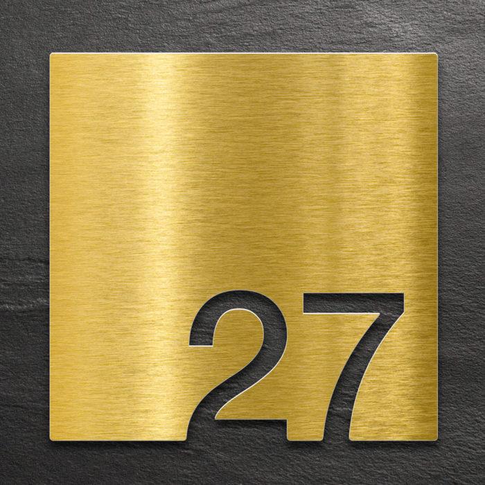 Messing Zimmernummer 27 / Z.03.027.M 1