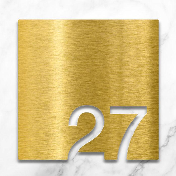 Messing Zimmernummer 27 / Z.03.027.M 2