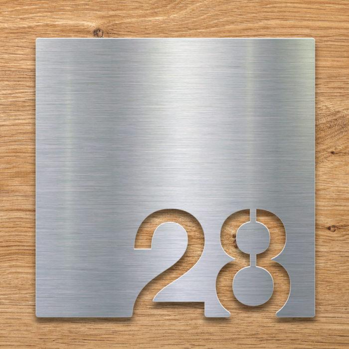 Edelstahl Zimmernummer 28 / Z.03.028.E 2