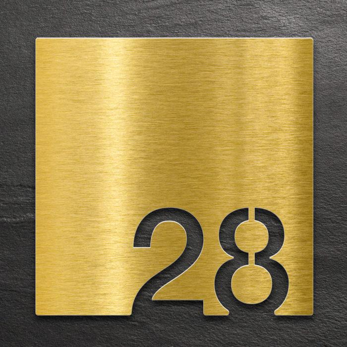 Messing Zimmernummer 28 / Z.03.028.M 1