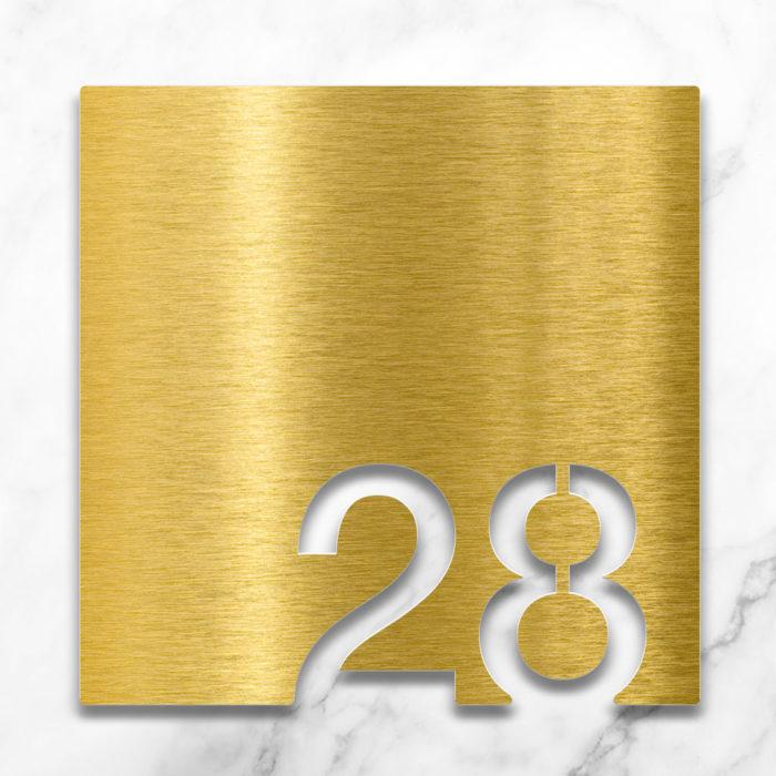 Messing Zimmernummer 28 / Z.03.028.M 2