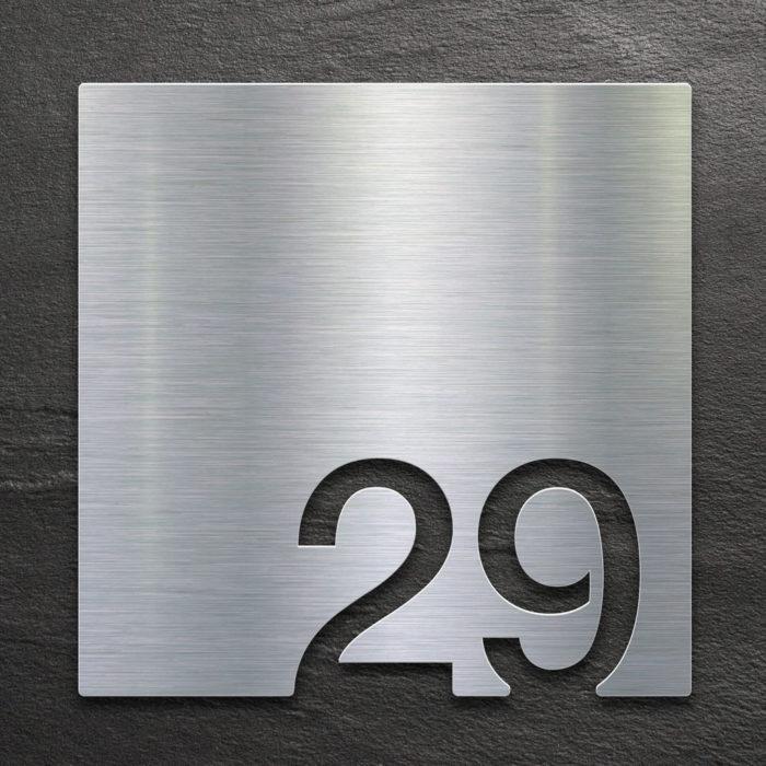 Edelstahl Zimmernummer 29 / Z.03.029.E 1