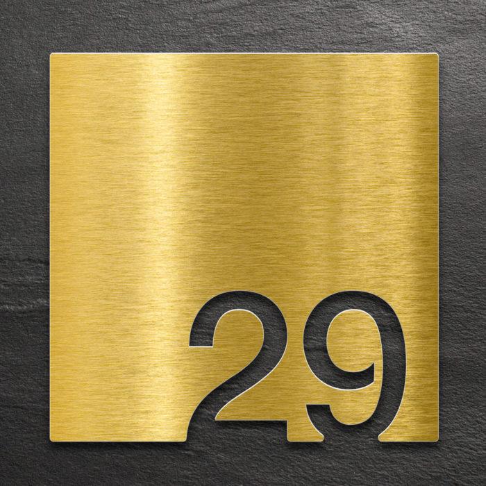 Messing Zimmernummer 29 / Z.03.029.M 1