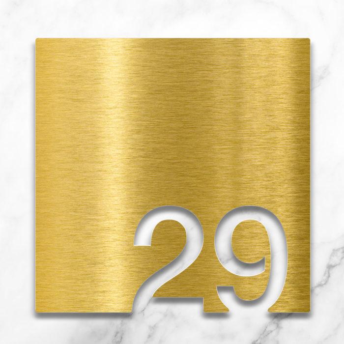 Messing Zimmernummer 29 / Z.03.029.M 2