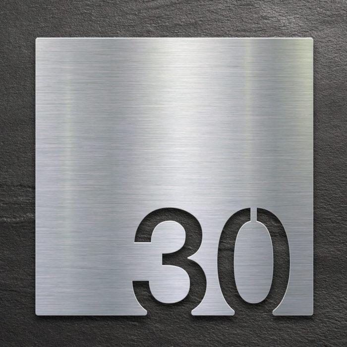 Edelstahl Zimmernummer 30 / Z.03.030.E 1