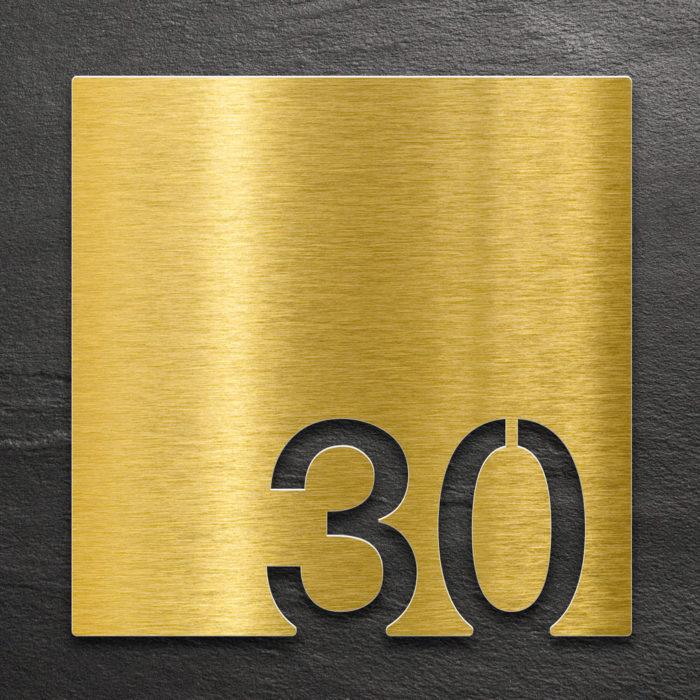 Messing Zimmernummer 30 / Z.03.030.M 1
