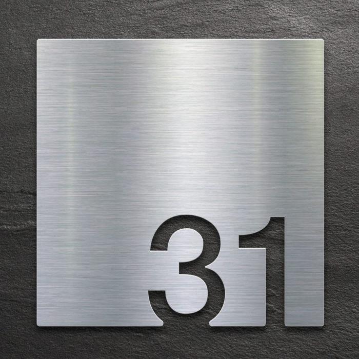 Edelstahl Zimmernummer 31 / Z.03.031.E 1