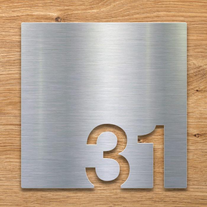 Edelstahl Zimmernummer 31 / Z.03.031.E 2