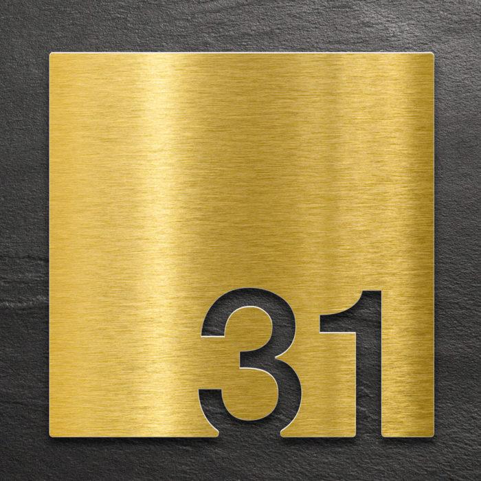 Messing Zimmernummer 31 / Z.03.031.M 1
