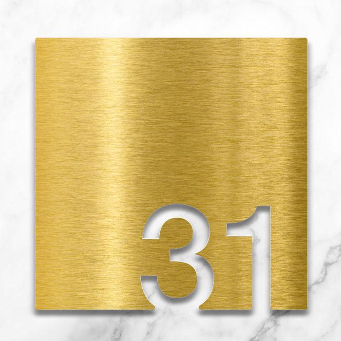 Messing Zimmernummer 31 / Z.03.031.M 2