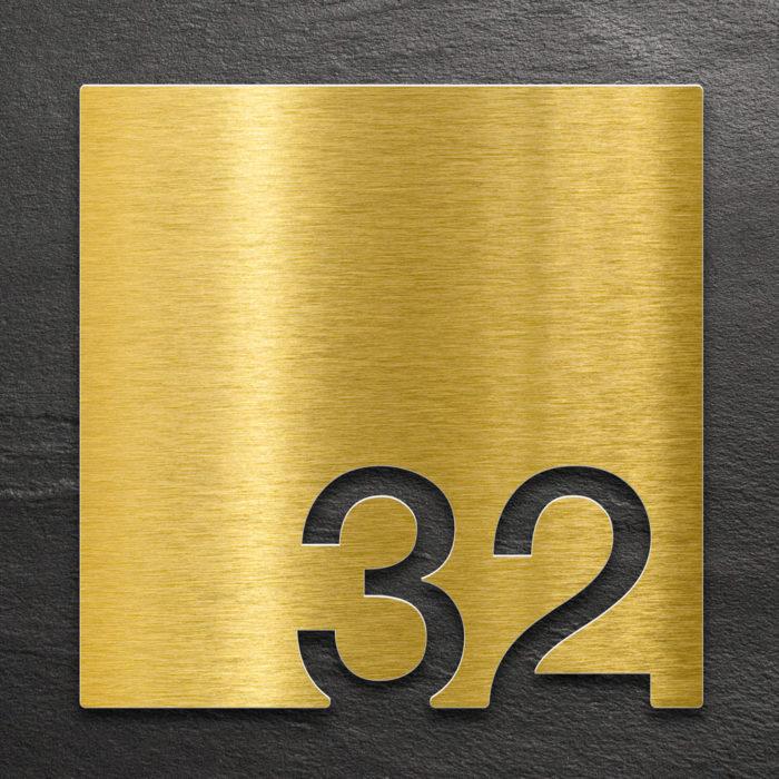Messing Zimmernummer 32 / Z.03.032.M 1