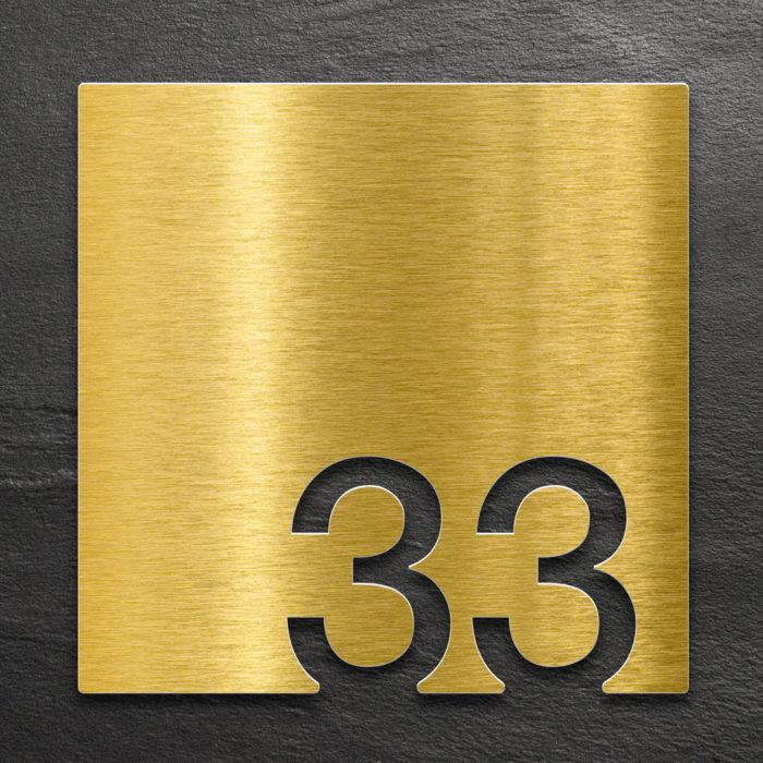Messing Zimmernummer 33 / Z.03.033.M 1