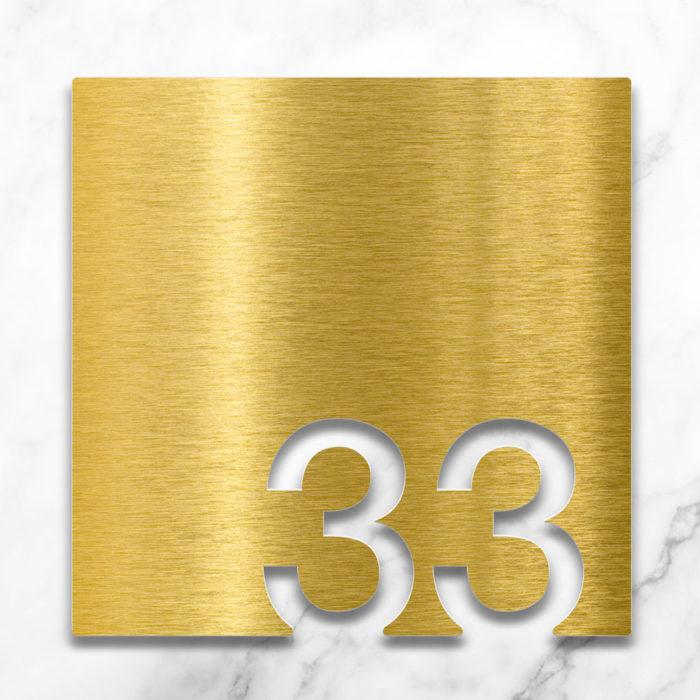 Messing Zimmernummer 33 / Z.03.033.M 2