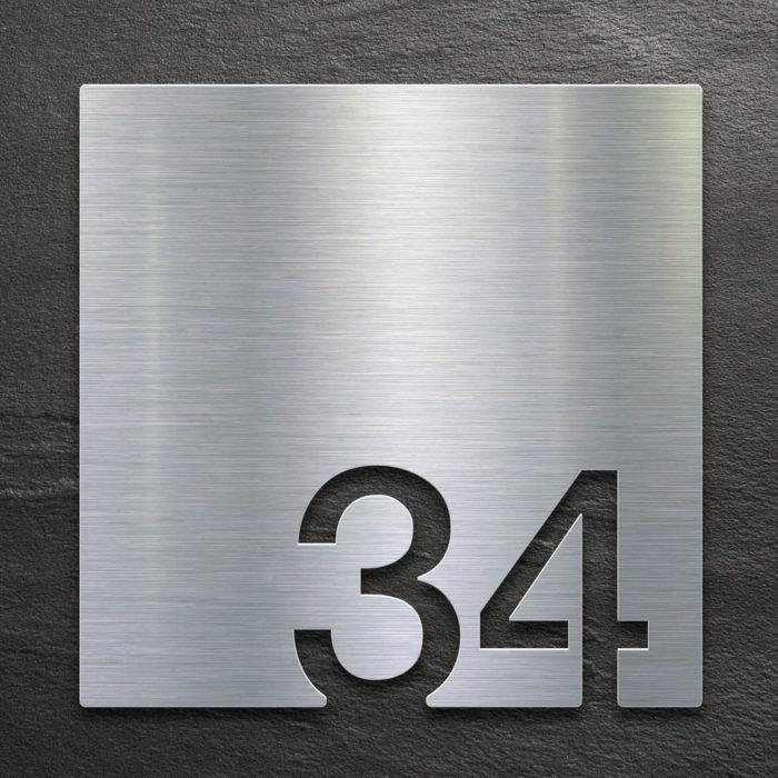 Edelstahl Zimmernummer 34 / Z.03.034.E 1