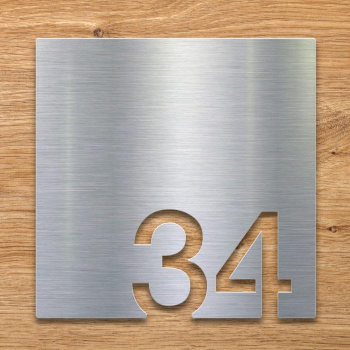 Edelstahl Zimmernummer 34 / Z.03.034.E 2
