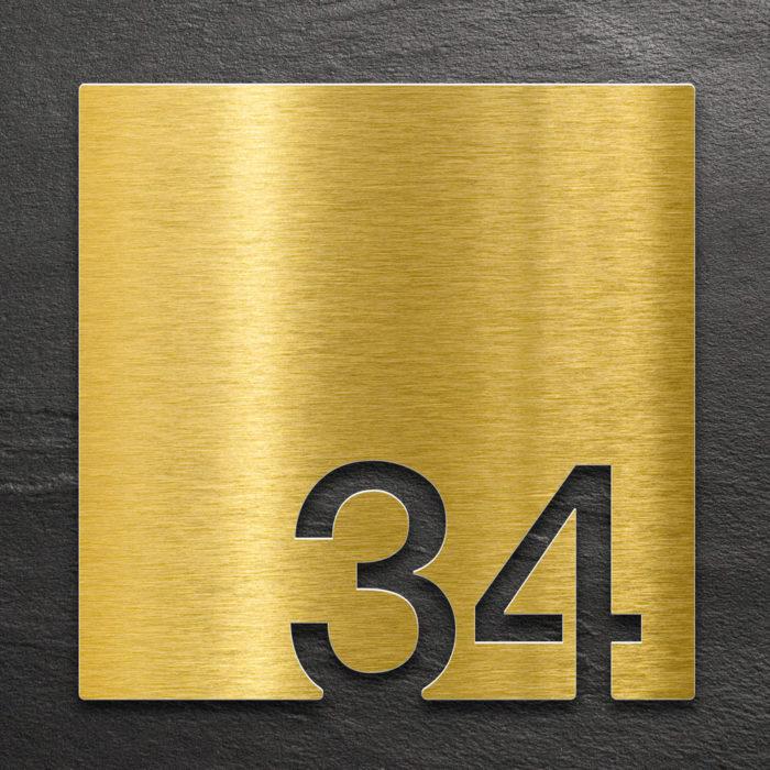 Messing Zimmernummer 34 / Z.03.034.M 1