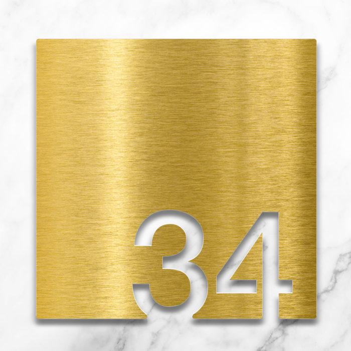 Messing Zimmernummer 34 / Z.03.034.M 2