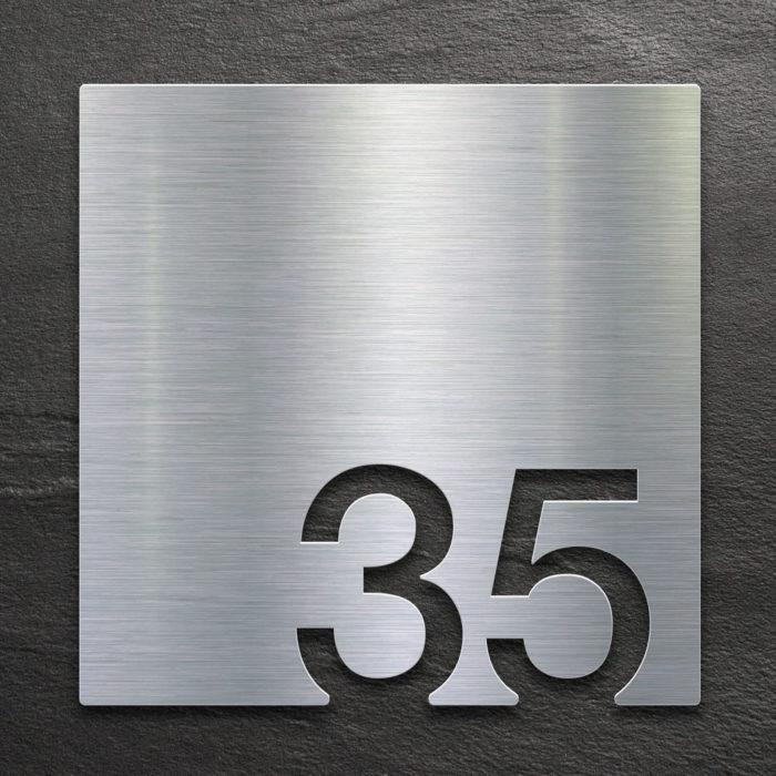 Edelstahl Zimmernummer 35 / Z.03.035.E 1