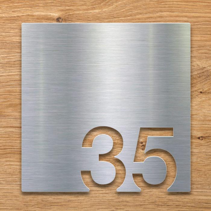 Edelstahl Zimmernummer 35 / Z.03.035.E 2