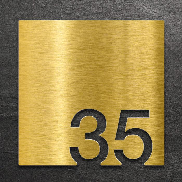 Messing Zimmernummer 35 / Z.03.035.M 1