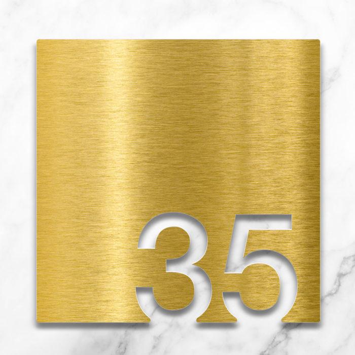 Messing Zimmernummer 35 / Z.03.035.M 2