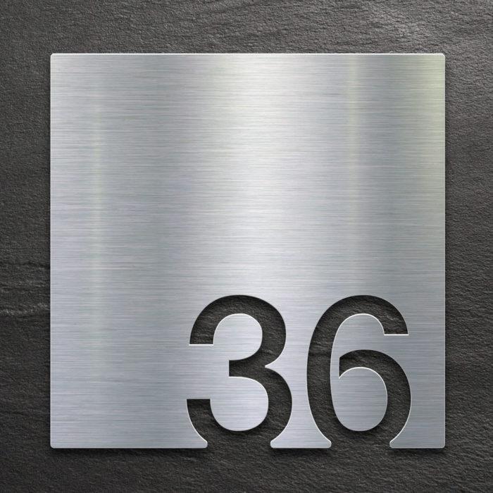 Edelstahl Zimmernummer 36 / Z.03.036.E 1