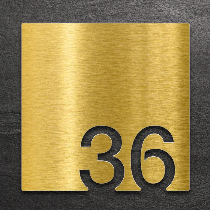Messing Zimmernummer 36 / Z.03.036.M 1