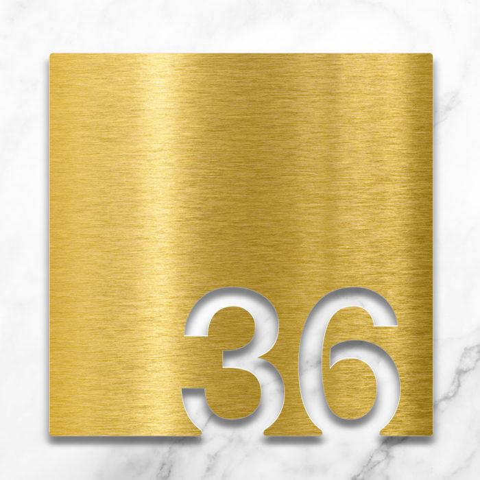 Messing Zimmernummer 36 / Z.03.036.M 2