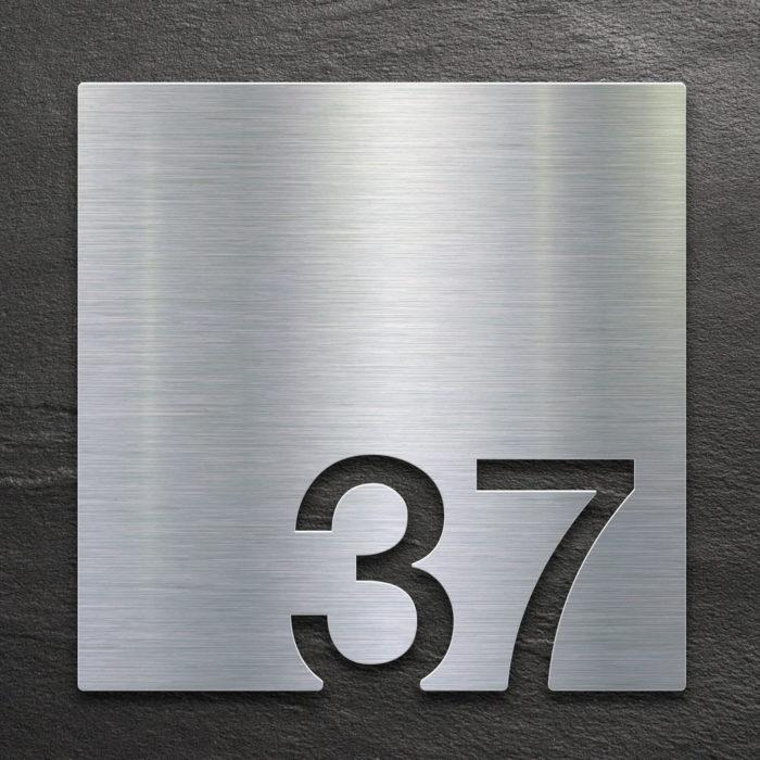 Edelstahl Zimmernummer 37 / Z.03.037.E 1
