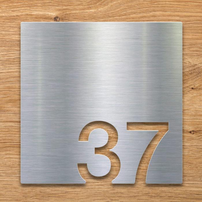 Edelstahl Zimmernummer 37 / Z.03.037.E 2