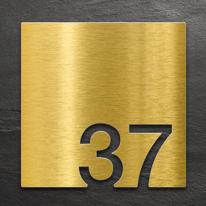 Messing Zimmernummer 37 / Z.03.037.M 1