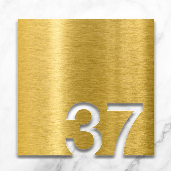 Messing Zimmernummer 37 / Z.03.037.M 2