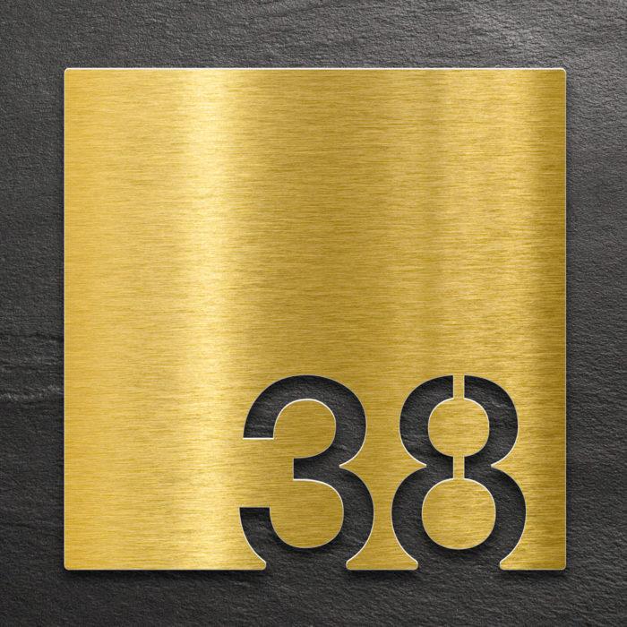 Messing Zimmernummer 38 / Z.03.038.M 1