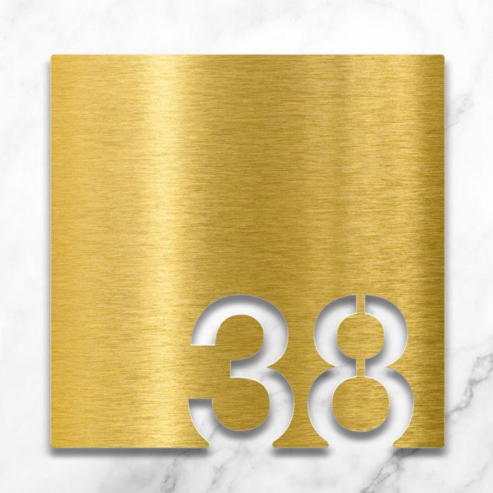 Messing Zimmernummer 38 / Z.03.038.M 2