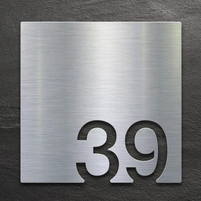 Edelstahl Zimmernummer 39 / Z.03.039.E 1