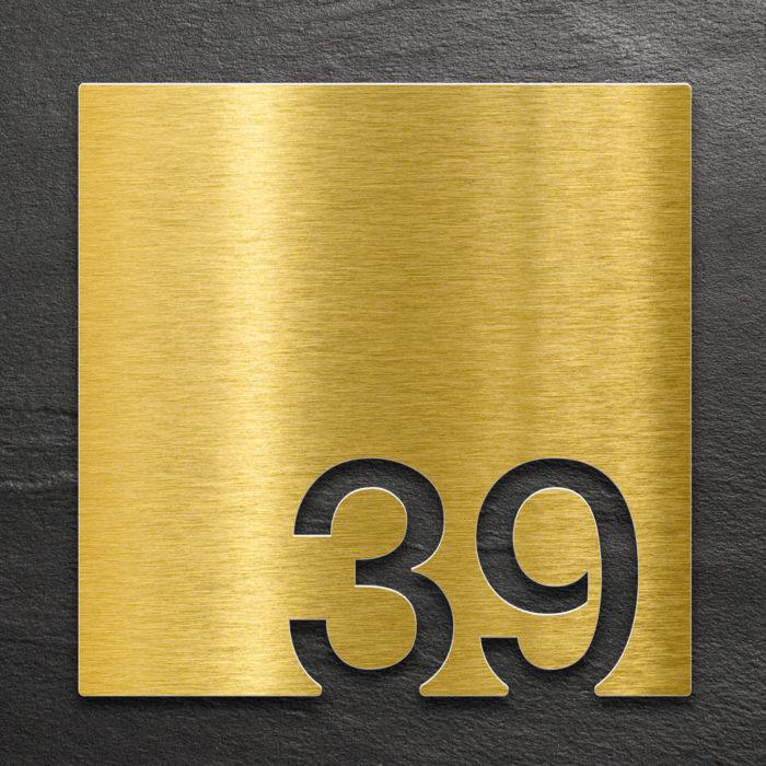 Messing Zimmernummer 39 / Z.03.039.M 1
