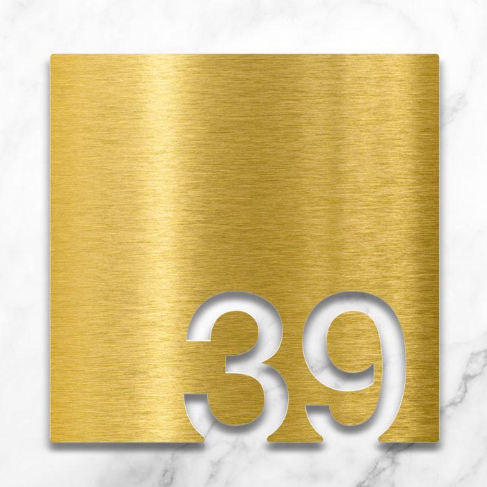 Messing Zimmernummer 39 / Z.03.039.M 2
