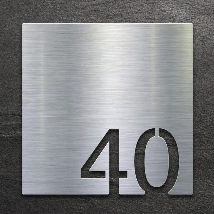 Edelstahl Zimmernummer 40 / Z.03.040.E 1