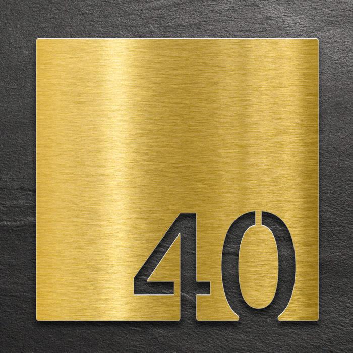 Messing Zimmernummer 40 / Z.03.040.M 1