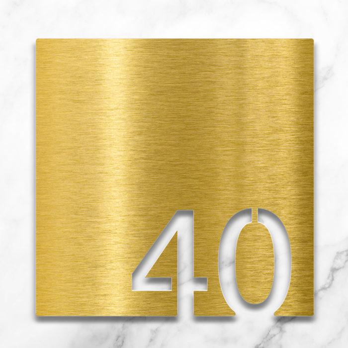 Messing Zimmernummer 40 / Z.03.040.M 2