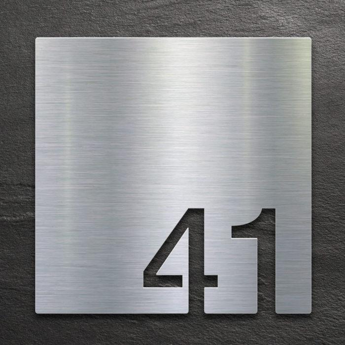 Edelstahl Zimmernummer 41 / Z.03.041.E 1