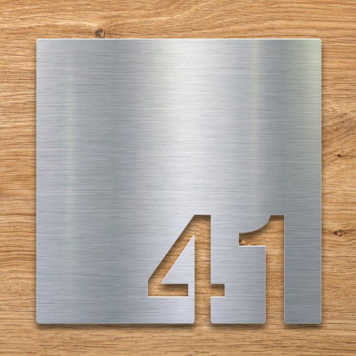 Edelstahl Zimmernummer 41 / Z.03.041.E 2