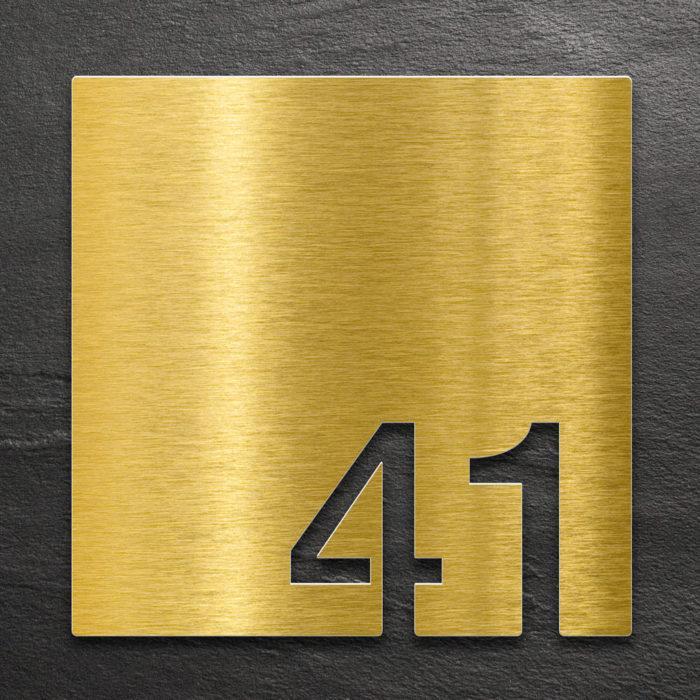 Messing Zimmernummer 41 / Z.03.041.M 1