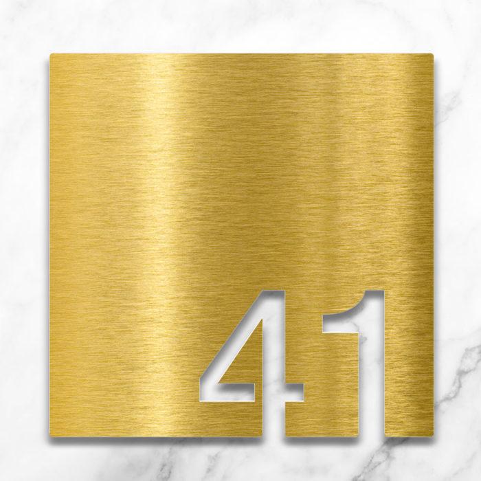 Messing Zimmernummer 41 / Z.03.041.M 2