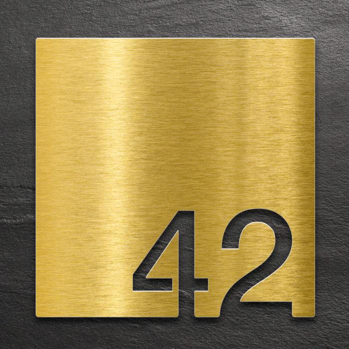 Messing Zimmernummer 42 / Z.03.042.M 1