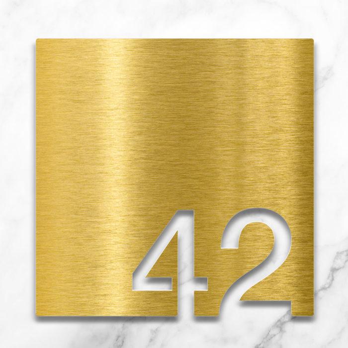 Messing Zimmernummer 42 / Z.03.042.M 2